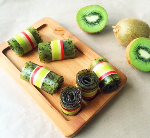 Thơm ngon kẹo cuộn kiwi cho bé 7