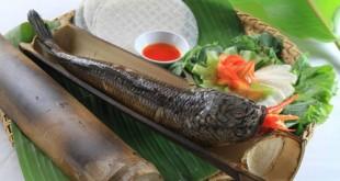 Cá lóc nướng ống tre