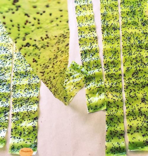 Thơm ngon kẹo cuộn kiwi cho bé 5